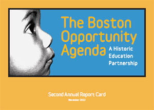 Boston Opportunity Agenda 2nd Report Card cover