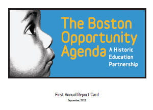 Boston Opportunity Agenda 1st Report Card cover